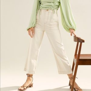 Free people Saturday sun straight leg trousers